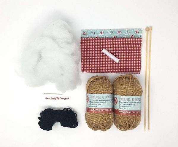 The Crafty Kit Co.Knit Your Own Teddies Knitting Kit Makes 1 Mummy & 1 Baby Bear